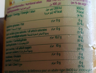 Jus Multifruits - Informations nutritionnelles - nl