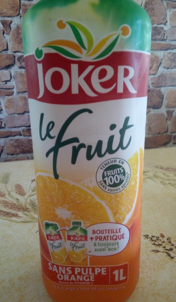 Le fruit Orange sans pulpe - Product - fr