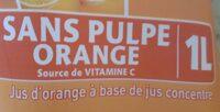 Le fruit Orange sans pulpe - Ingredients - fr