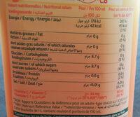 Le fruit Orange sans pulpe - Nutrition facts - fr