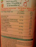 Jus Multifruits à base de jus concentrés. - Informations nutritionnelles - fr