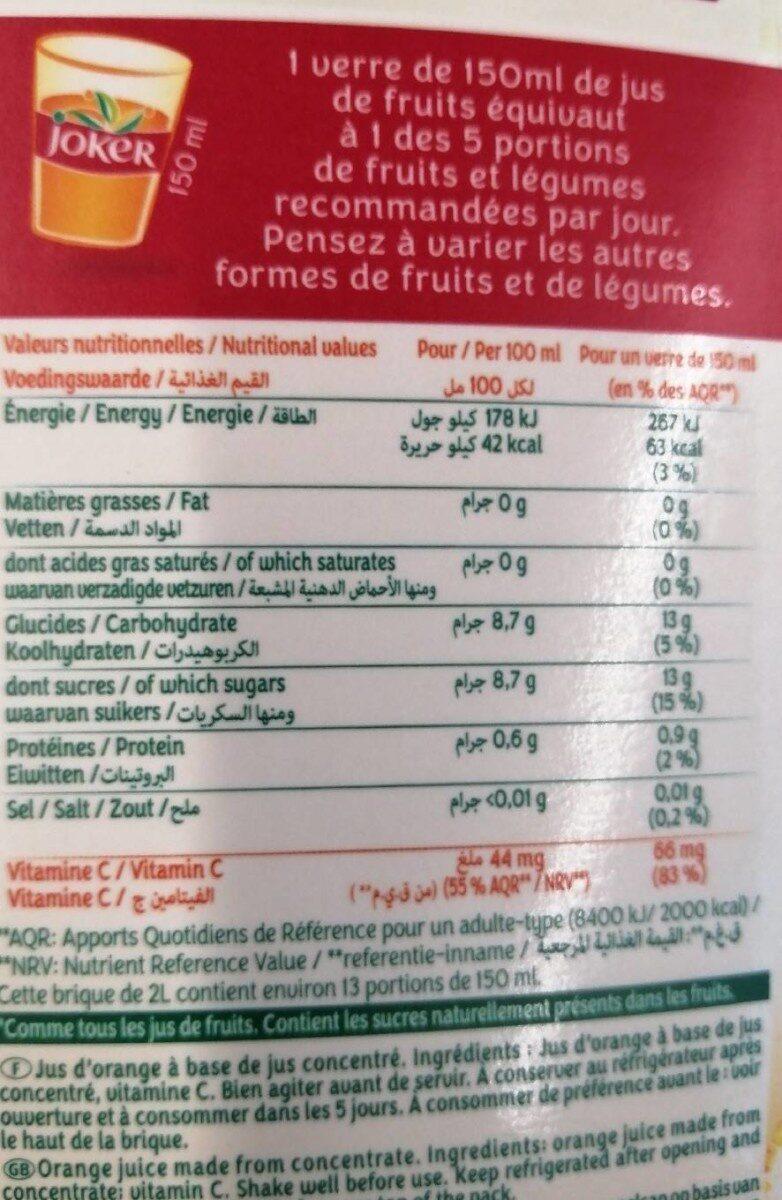 Le fruit - Informations nutritionnelles - fr