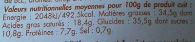 Galette des Rois Pur Beurre Frangipane - Información nutricional