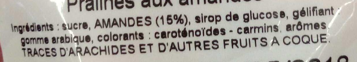 Pralines Pâtissières - Ingredients