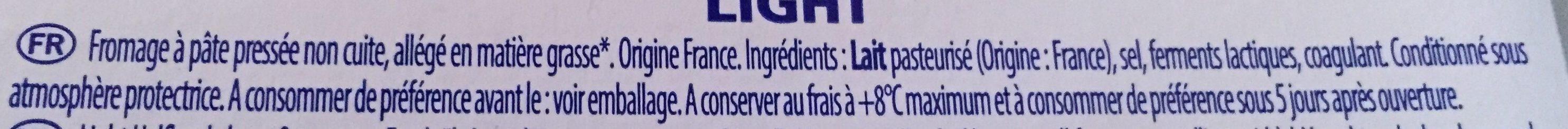Light (4%MG) - Ingrediënten - fr