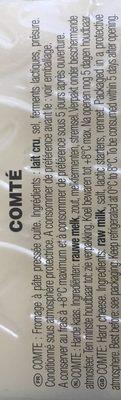 Comte - Ingredients