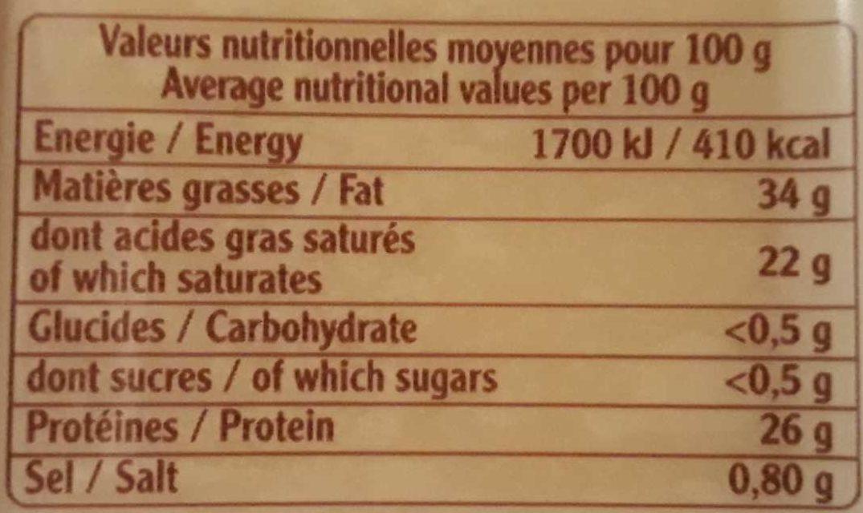 . - Informations nutritionnelles