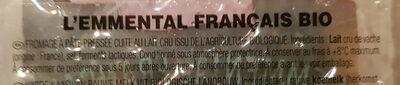 Emmental francais - Ingredients - fr