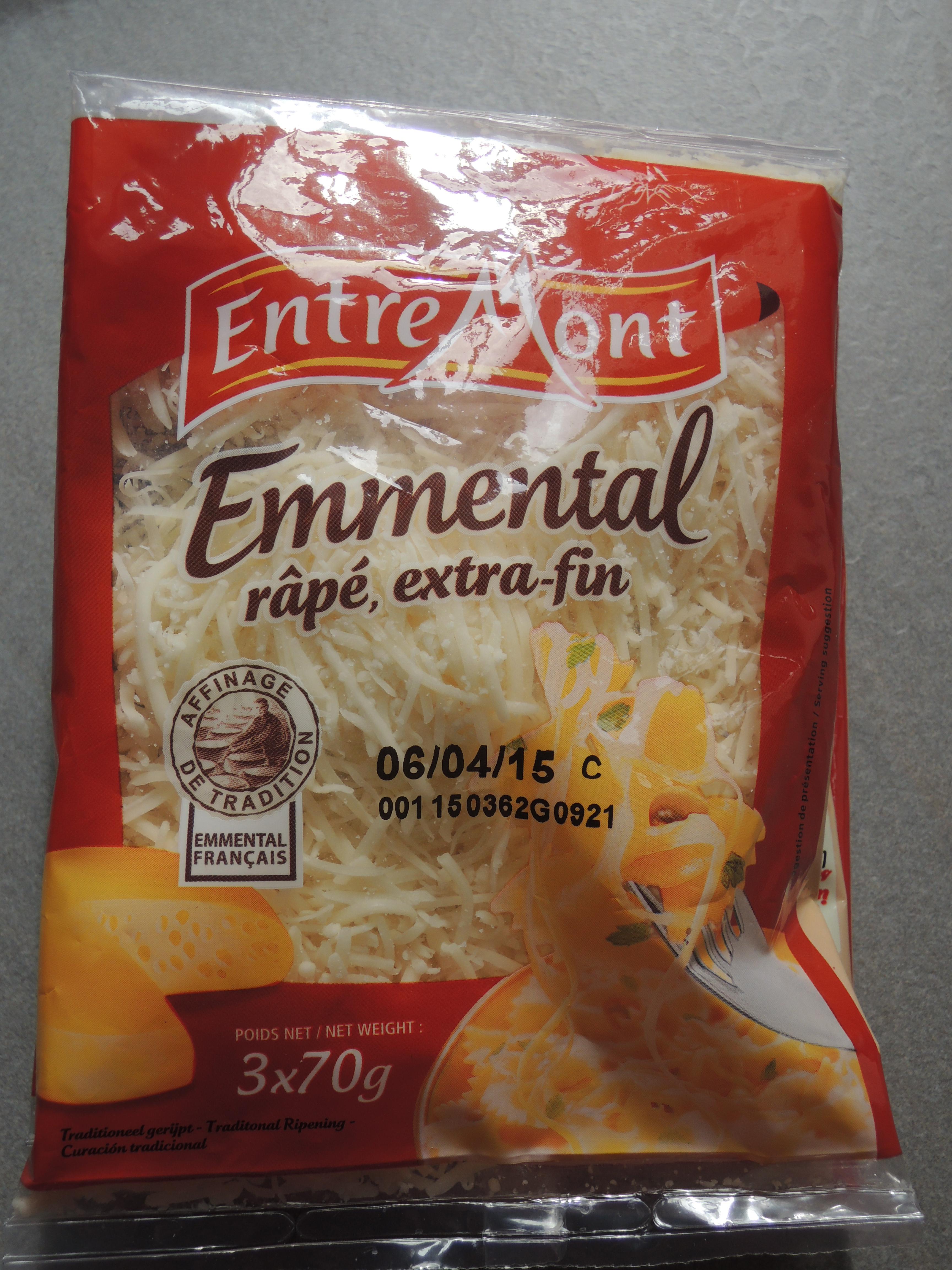 Emmental rapé extra fin Entremont - Produit