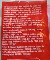 Emmental rapé extra fin Entremont - Ingredients