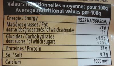 Emmental rapé extra fin Entremont - Nutrition facts