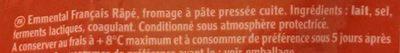 L'Emmental Français Extra fin - Ingredients - fr