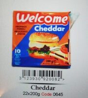 Welcome Queso Cheddar Lonjas X - Produit - fr