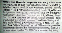 Raclette Gourmande (28% MG) - 480 g - EntreMont - Nutrition facts