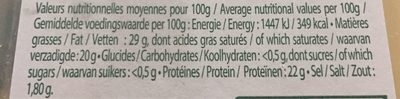 Raclette (30% MG) Saveur d'Antan au lait entier - 350 g - EntreMont - Voedigswaarden