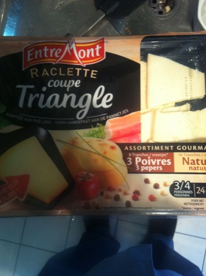 Raclette coupe Triangle (28% MG) - EntreMont - Produit