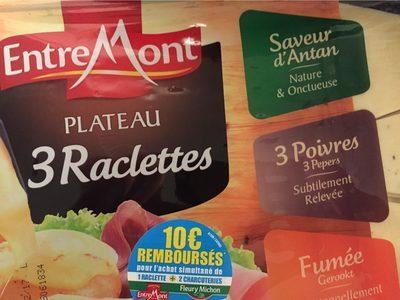 Raclette 3 saveurs, 3 poivres, nature et fumée - Product - fr