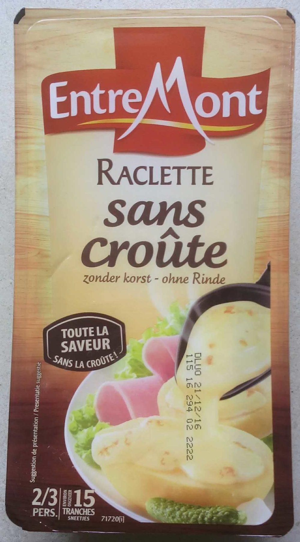 Raclette sans cro te entremont 350 g - Quantite de fromage a raclette par personne ...