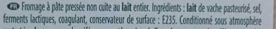 Raclette saveur d'antan - Ingrédients - fr