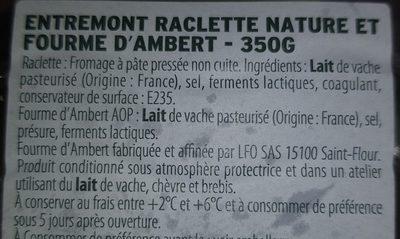 Raclette Nature Et Forme D Ambert Entremont
