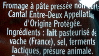 Cantal, entre-deux (150j mini) - Ingredientes