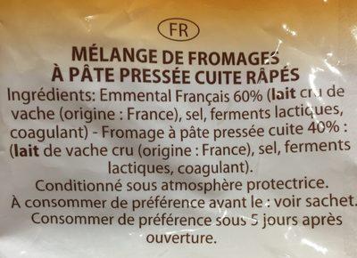 Spécial gratin - Ingrédients - fr