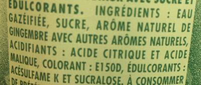 Ginger ale - Ingrediënten