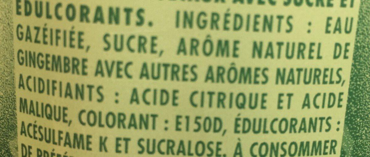 Ginger ale - Ingredienti - fr