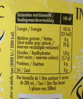 Schweppes Indian Tonic - Nutrition facts - fr