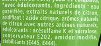 Schweppes Zero Lemon - Ingrediënten - fr