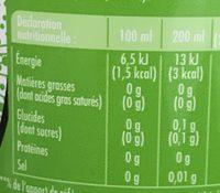 Schweppes Zero Lemon - Voedingswaarden - fr