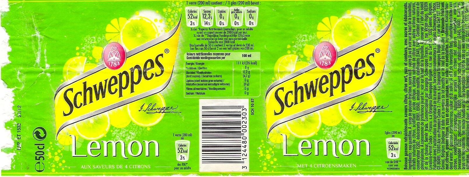 Schweppes Lemon - Produit