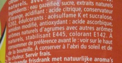 Schweppes Agrumes - Ingredients