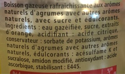 Schweppes Agrumes - Ingrediënten