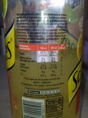 Agrumes - Nutrition facts - fr