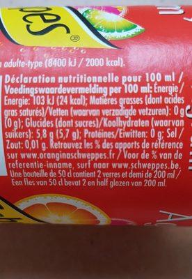 Schweppes Agrum' - Ingrédients - fr