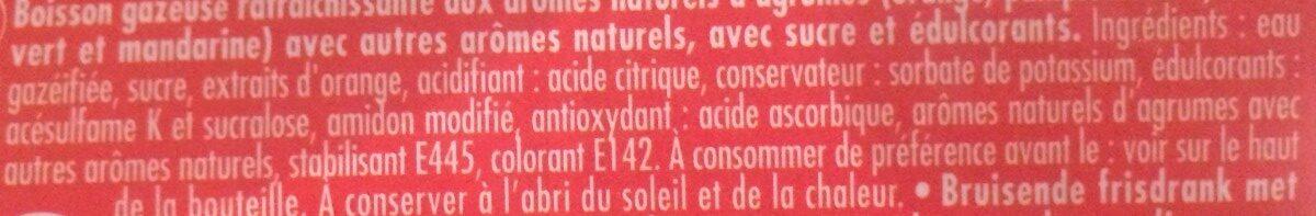Schweppes Agrum' - Ingrédients