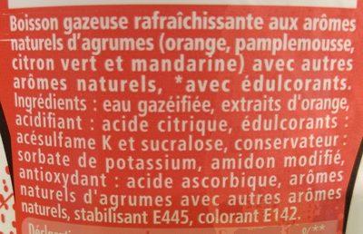 Schweppes Agrum zero - Ingredients