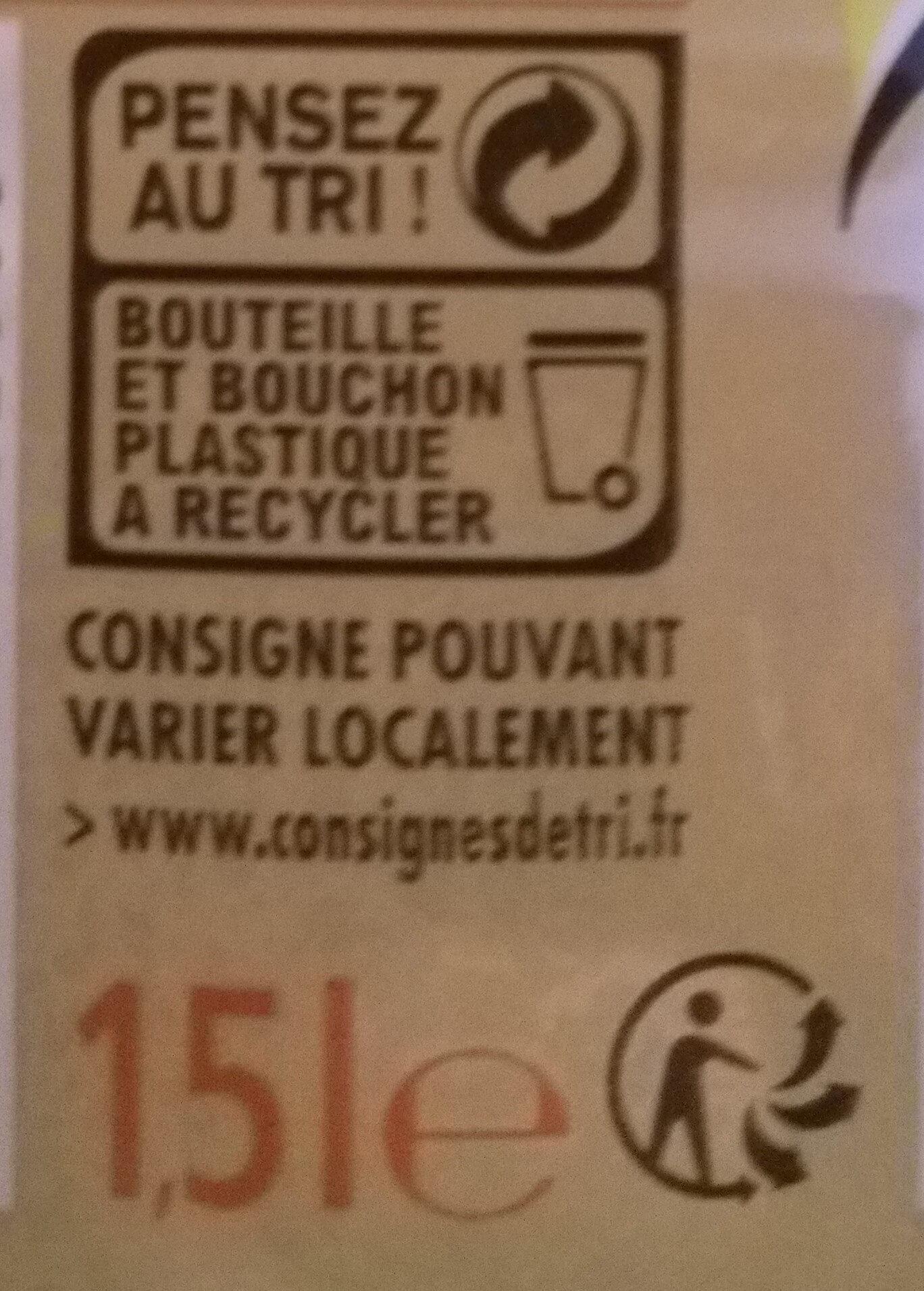 Zero Agrumes - Istruzioni per il riciclaggio e/o informazioni sull'imballaggio - fr