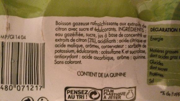 Gini - Ingrediënten