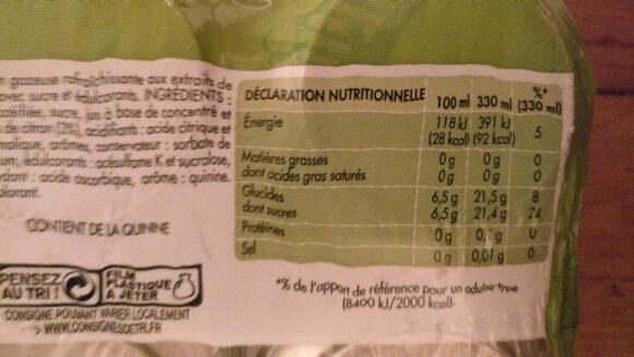 Gini - Voedingswaarden