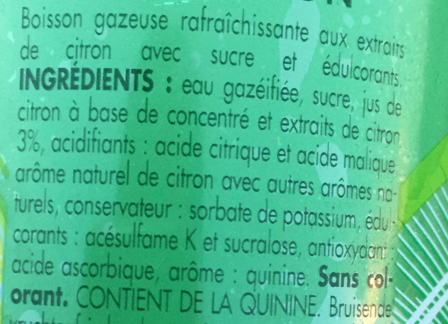 Gini - Ingrediënten - fr