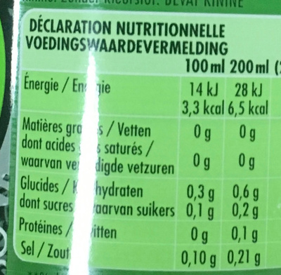 Gini Zero sugars - Informations nutritionnelles - fr