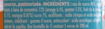 Tropical - Ingrédients - fr