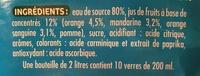 Oasis Agrumes - Ingrediënten