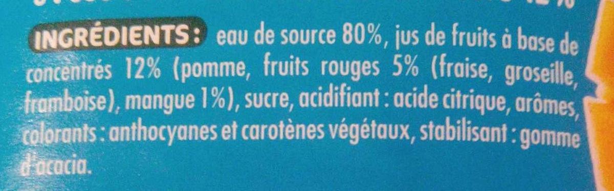 Mangue Fruits Rouges - Ingredients - fr