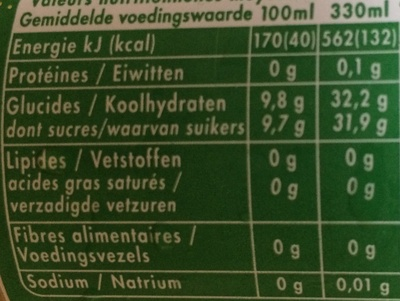 Pêche Abricot - Nutrition facts