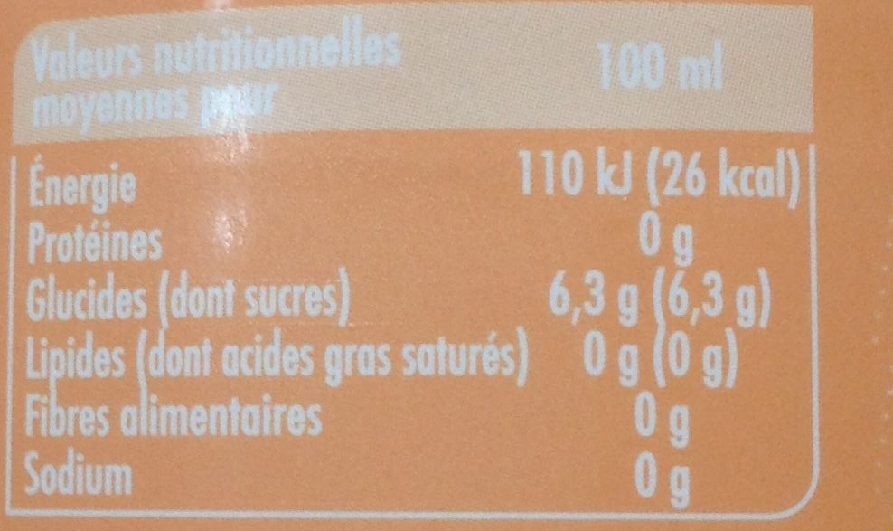 Pêch' - Nutrition facts - fr