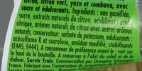 Lemon - Ingrédients - fr