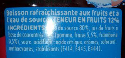 Fraise Framboise - Ingrédients